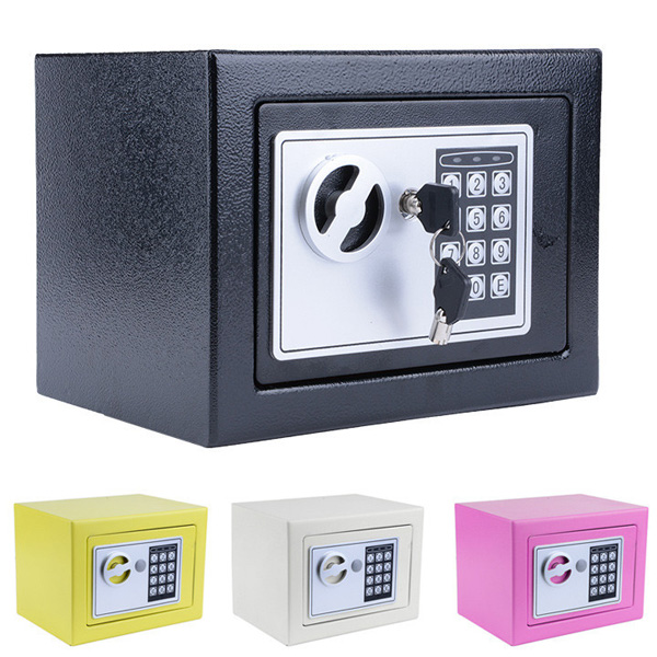 digital electronic safe security box wall jewelry cash lock keypad safes home treasure security. Black Bedroom Furniture Sets. Home Design Ideas