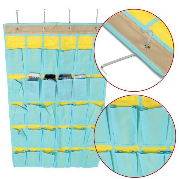 30 Pockets Hanging Organizer Phones Storage Bag Tidy