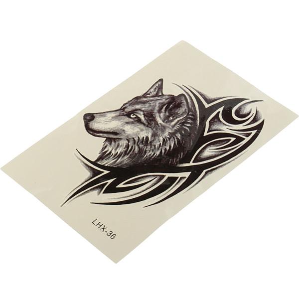 Wolf Head Tattoo Stickers Waterproof Temporary Sexy Body Art Beauty Makeup