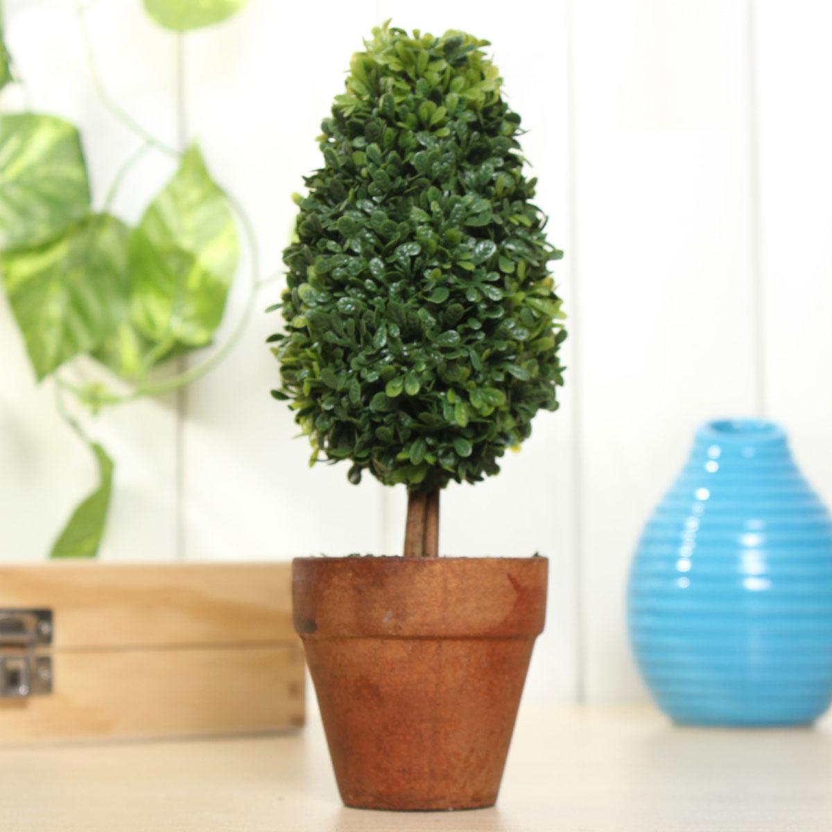 Artificial Potted Plant Plastic Garden Grass Ball Topiary Tree Pot Home Desk Decor