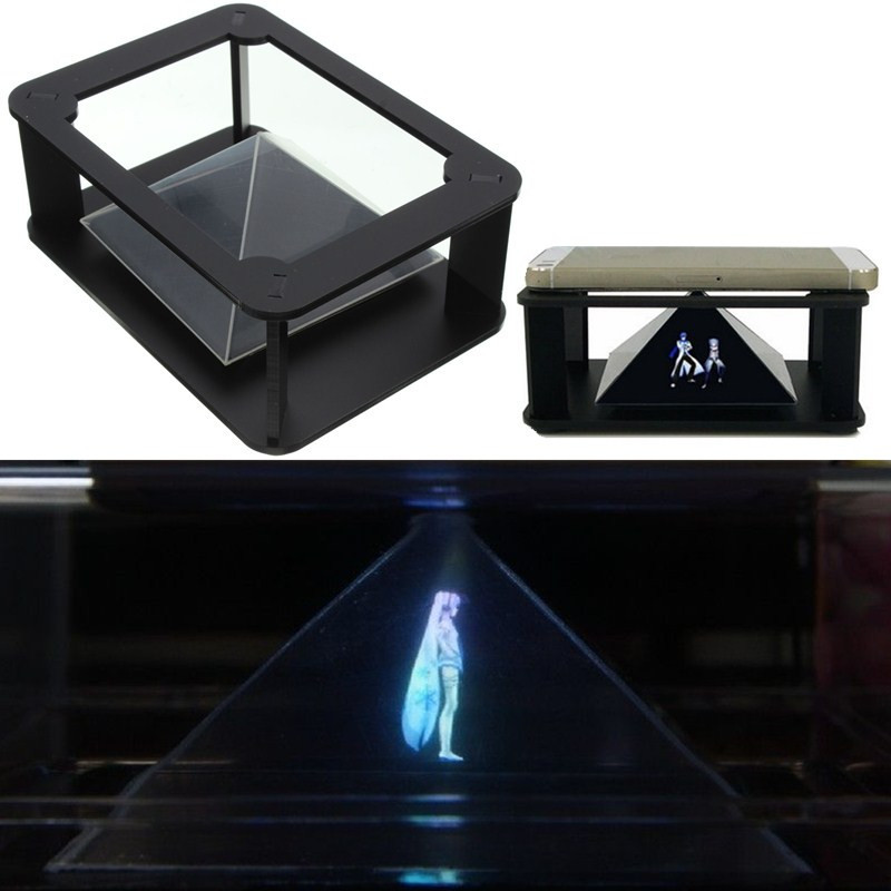 DIY 3D Holographic Projection Pyramid For IPhone 6S Plus