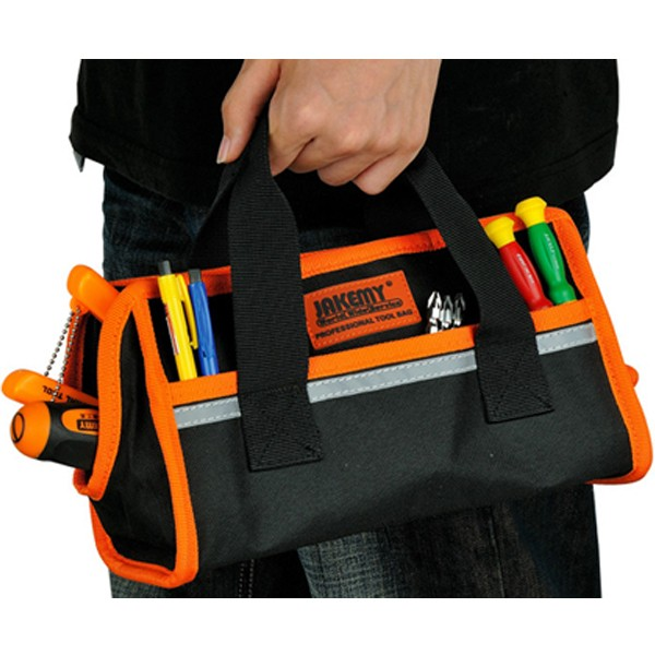 Large Zipper Comfortable And Safe 5 Reflective Fabric At Night Package Includes 1 X Jakemy Jm B03 Professional Tool Bag Size Small 27x12x15cm