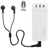 WR-16 Mini Professional 16GB Digital Voice Recorder with Belt Clip, Support WAV Recording Format (White)
