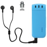 WR-16 Mini Professional 16GB Digital Voice Recorder with Belt Clip, Support WAV Recording Format (Blue)
