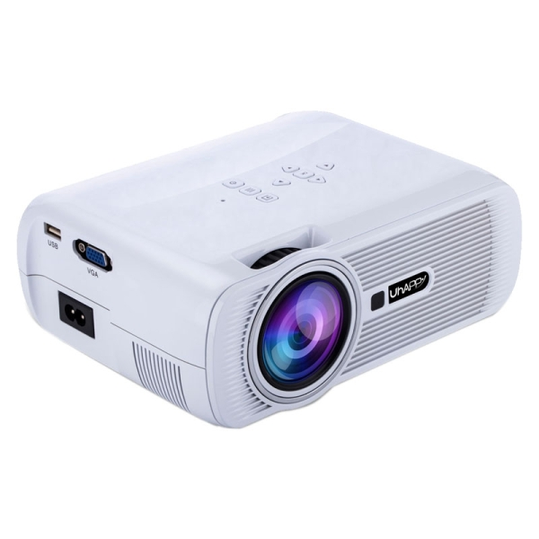 Uhappy u80 portable home theater 1080p led hd mini digital for Pocket hd projector 1080p