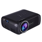 Uhappy U80 Portable Home Theater 1080P LED HD Mini Digital Projector, Support HDMI, VGA, USB (Black)