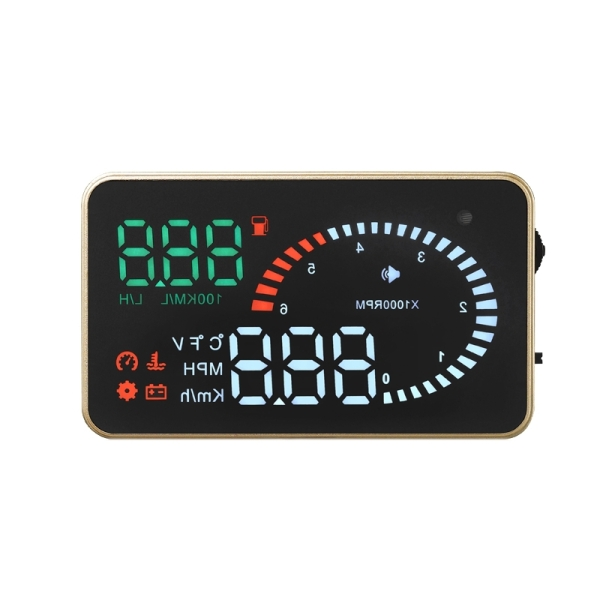 X6 3.5 inch Car OBD II / EUOBD HUD Vehicle-mounted Head Up Display Security System, Support Speed & Water Temperature & Speed Alarm & Fuel Consumption & Battery Voltage, etc.