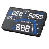 Q7 5.5 inch Car GPS HUD Vehicle-mounted Head Up Display Security System, Support Speed & Real Time & Altitude & Over Speed Alarm & Satellite Number, etc.