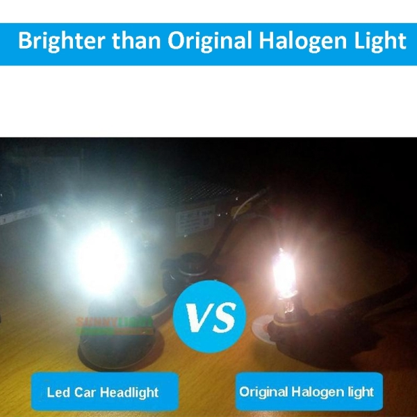 H1-5HL-20W 2000lm / 6000K Car LED Headlight, White Light, DC 9-36V, Pack of 2