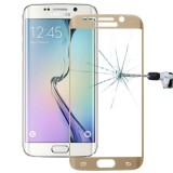 LOPURS 0.2mm 9H Surface Hardness 3D Curved Surface Full Screen Cover Explosion-proof Tempered Glass Film for Samsung Galaxy S6 Edge+ / G928  (Gold)