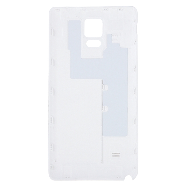 Full Housing Cover Replacement (Front Housing LCD Frame Bezel Plate + Middle Frame Bazel Back Plate Housing Camera Lens Panel + Battery Back Cover Replacement) for Samsung Galaxy Note 4 / N910F (White)