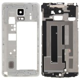 Full Housing Cover Replacement (Front Housing LCD Frame Bezel Plate + Middle Frame Bazel Back Plate Housing Camera Lens Panel Replacement) for Samsung Galaxy Note 4 / N910F (White)