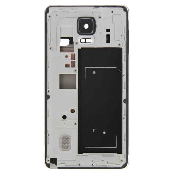 Full Housing Cover Replacement (Front Housing LCD Frame Bezel Plate + Middle Frame Bazel Back Plate Housing Camera Lens Panel Replacement) for Samsung Galaxy Note 4 / N910F (Black)