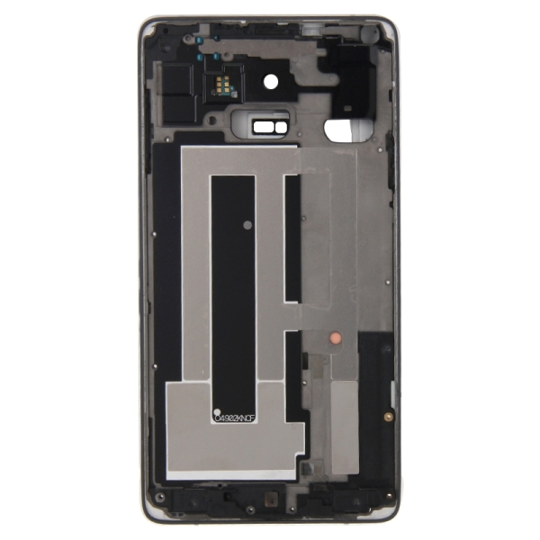 Full Housing Cover Replacement (Front Housing LCD Frame Bezel Plate + Middle Frame Bazel Back Plate Housing Camera Lens Panel Replacement) for Samsung Galaxy Note 4 / N910V (Black)
