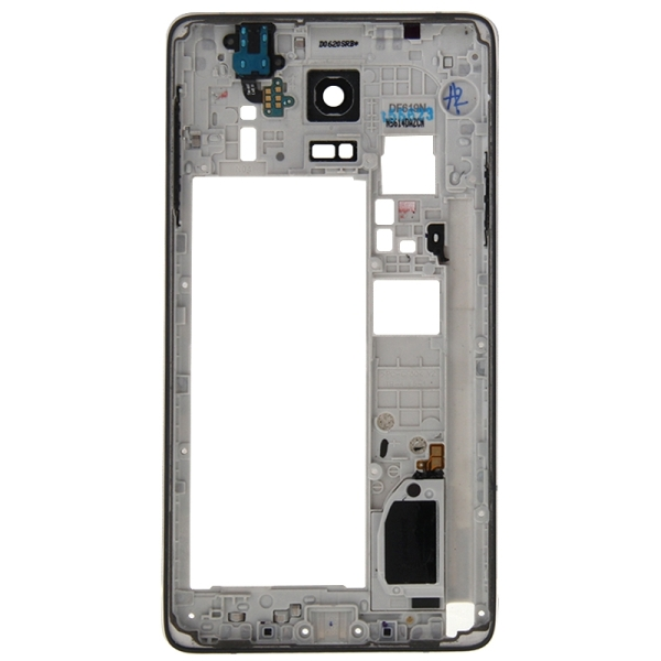 Full Housing Cover Replacement (Front Housing LCD Frame Bezel Plate + Middle Frame Bazel Back Plate Housing Camera Lens Panel + Battery Back Cover Replacement) for Samsung Galaxy Note 4 / N910V (Black)