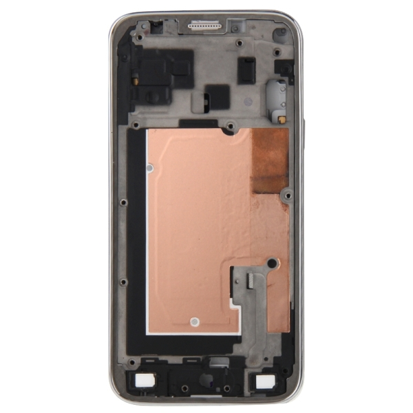 Full Housing Cover Replacement (Front Housing LCD Frame Bezel Plate + Middle Frame Bazel Back Plate Housing Camera Lens Panel + Battery Back Cover Replacement) for Samsung Galaxy Alpha / G850 (White)