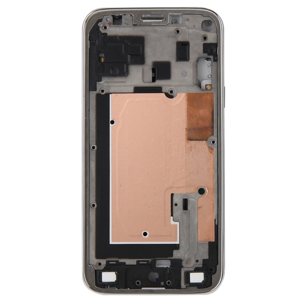 Full Housing Cover Replacement (Front Housing LCD Frame Bezel Plate + Middle Frame Bazel Back Plate Housing Camera Lens Panel + Battery Back Cover Replacement) for Samsung Galaxy Alpha / G850 (Black)