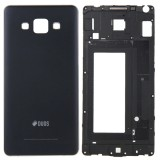 Full Housing Cover Replacement (Front Housing LCD Frame Bezel Plate + Rear Housing Replacement) for Samsung Galaxy A5 / A500 (Black)