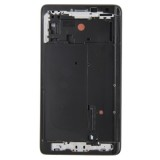 Full Housing Cover Replacement (Front Housing LCD Frame Bezel Plate + Middle Frame Bezel + Battery Back Cover Replacement) for Samsung Galaxy Note Edge / N915 (Black)