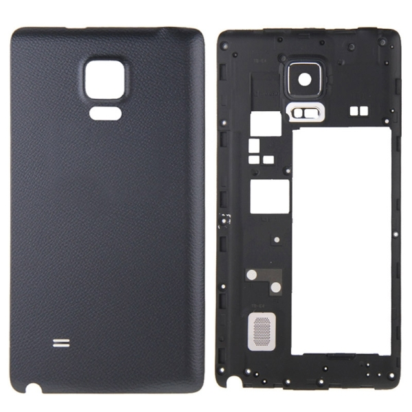 new arrival 01712 bafd5 Full Housing Cover Replacement (Middle Frame Bezel + Battery Back Cover  Replacement) for Samsung Galaxy Note Edge / N915 (Black)