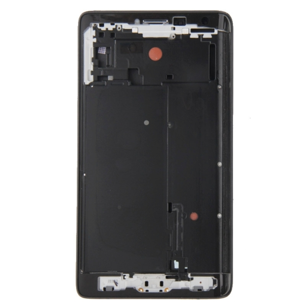Full Housing Cover Replacement (Front Housing LCD Frame Bezel Plate + Middle Frame Bezel Replacement) for Samsung Galaxy Note Edge / N915 (Black)