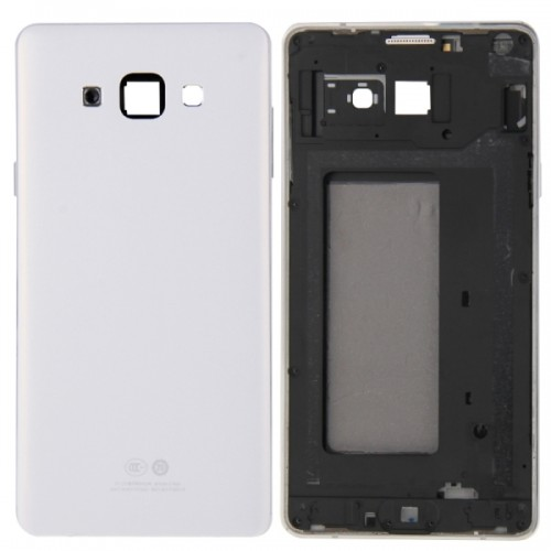 Full Housing Cover Replacement (Front Housing LCD Frame Bezel Plate + Rear Housing Replacement) for Samsung Galaxy A7 / A700 (White)