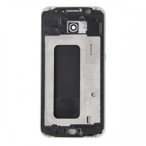 Full Housing Cover Replacement (Front Housing LCD Frame Bezel Plate + Back Plate Housing Camera Lens Panel + Battery Back Cover Replacement) for Samsung Galaxy S6 / G920 (White)