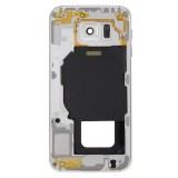 Full Housing Cover Replacement (Front Housing LCD Frame Bezel Plate + Back Plate Housing Camera Lens Panel Replacement) for Samsung Galaxy S6 / G920 (White)