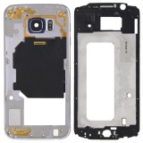 Full Housing Cover Replacement (Front Housing LCD Frame Bezel Plate + Back Plate Housing Camera Lens Panel Replacement) for Samsung Galaxy S6 / G920 (Grey)