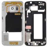 Full Housing Cover Replacement (Front Housing LCD Frame Bezel Plate + Back Plate Housing Camera Lens Panel Replacement) for Samsung Galaxy S6 Edge / G925 (Silver)