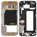 Full Housing Cover Replacement (Front Housing LCD Frame Bezel Plate + Back Plate Housing Camera Lens Panel Replacement) for Samsung Galaxy S6 Edge / G925 (Gold)