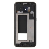 Full Housing Cover Replacement (Front Housing LCD Frame Bezel Plate + Back Plate Housing Camera Lens Panel Replacement) for Samsung Galaxy S6 Edge / G925 (Grey)