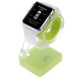Plastic Charger Holder for Apple Watch 38mm & 42mm, Stand for iPhone 6s & 6s Plus, iPhone 6 & 6 Plus, iPhone 5 & 5S, Samsung Galaxy S6 / S5, HTC, Nokia, Sony (Green)