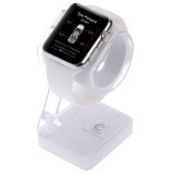 Plastic Charger Holder for Apple Watch 38mm & 42mm, Stand for iPhone 6s & 6s Plus, iPhone 6 & 6 Plus, iPhone 5 & 5S, Samsung Galaxy S6 / S5, HTC, Nokia, Sony (White)