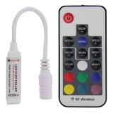 DC 5V-24V Mini 17 Keys RGB LED Controller with RF Wireless Remote Control for RGB LED Light Strip
