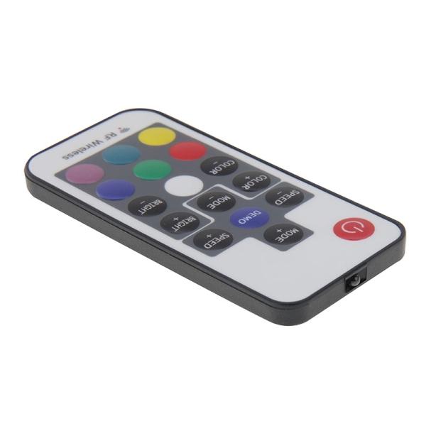 DC 5V-24V Mini 17 Keys RGB LED Controller with RF Wireless Remote Control for RGB LED Light Strip
