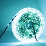 14.4W Bare Board Ice Blue Light LED 5050 SMD Rope Light, 60 LED/m, Length: 5m, Wide: 10mm