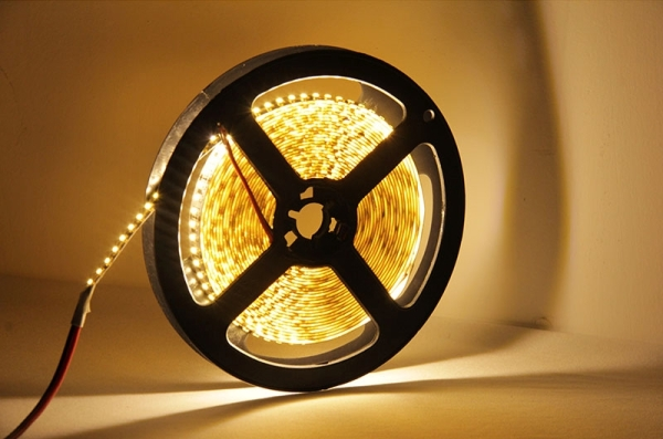 12W Bare Board Warm White Light LED 3014 SMD Rope Light, 120 LED/m, Length: 5m, Wide: 8mm