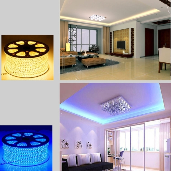 Epoxy Waterproof Warm White Light LED 3528 SMD Rope Light with US Plug Power Supply, 60 LED/m, Length: 5m