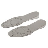 1 Pair Cowhide Increase Insoles, Size: 26cm x 9cm  (Grey + White)