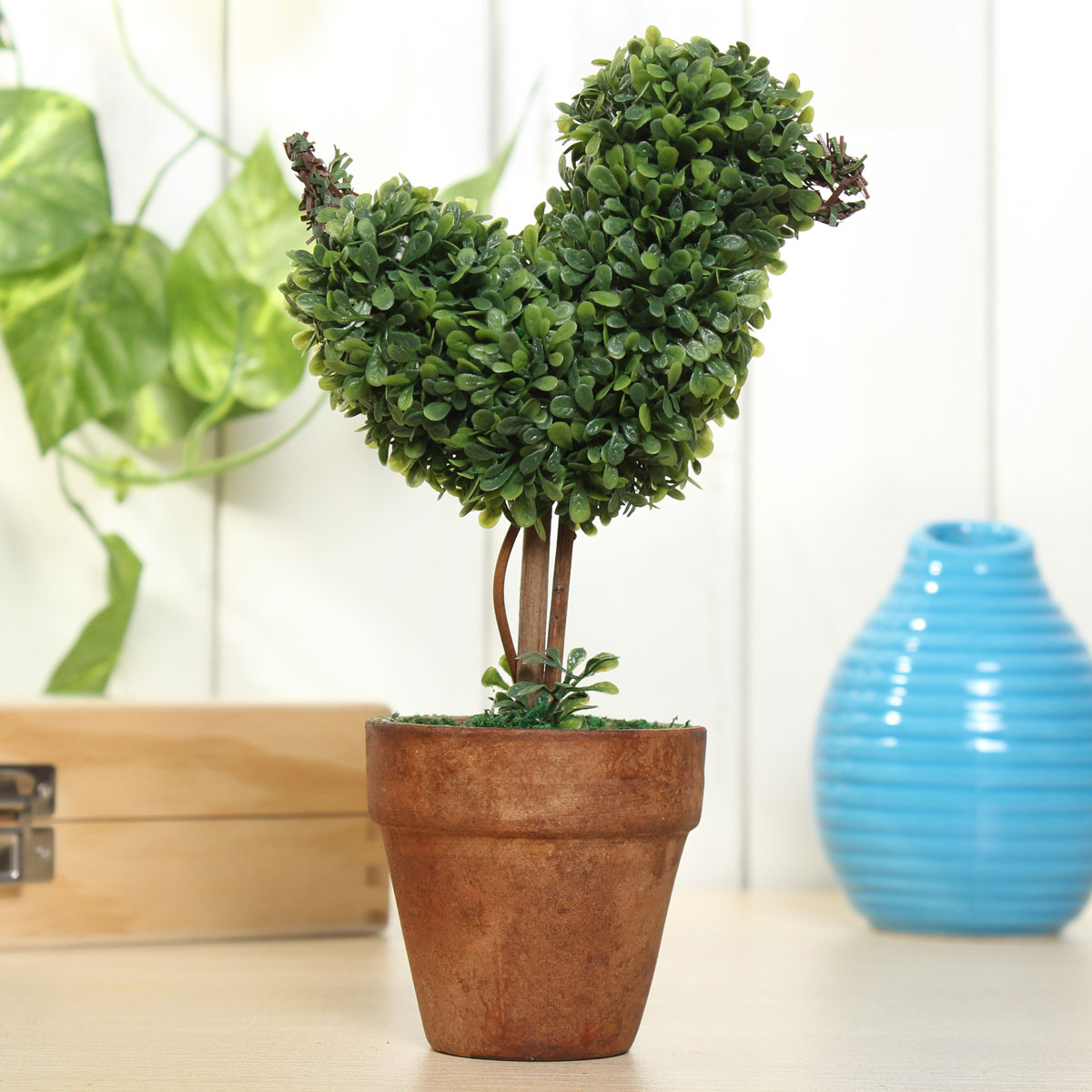 Artificial potted plant plastic garden grass ball topiary for Decorating patio with potted plants