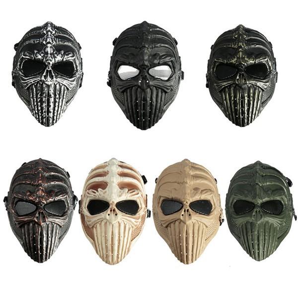 Tactical Military Skull Skeleton Full Mask for Halloween ...
