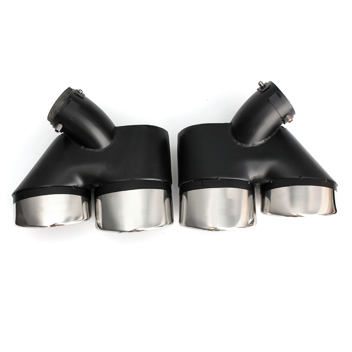 1pair w211 exhaust pipe dual tip for mercedes benz alex nld for Mercedes benz exhaust