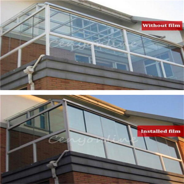 Silver window film one way mirror insulation stickers for Window insulation rating