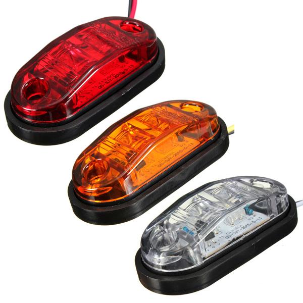 12v 24v 2 led side marker lights lamp for car truck. Black Bedroom Furniture Sets. Home Design Ideas