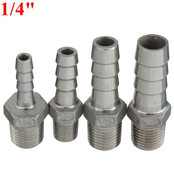 Inch male thread pipe barb hose tail connector adapter
