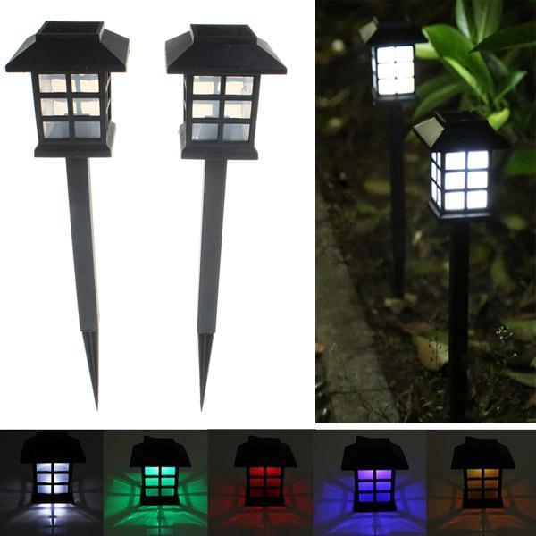 2pcs garden solar oriental led lamp outdoor yard lawn decorative light alex nld. Black Bedroom Furniture Sets. Home Design Ideas