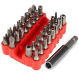 33pcs Security Screwdriver Bit Set Torx Hex Star Spanner Tri Wing Electric Screwdrive Hex Bits with Holder