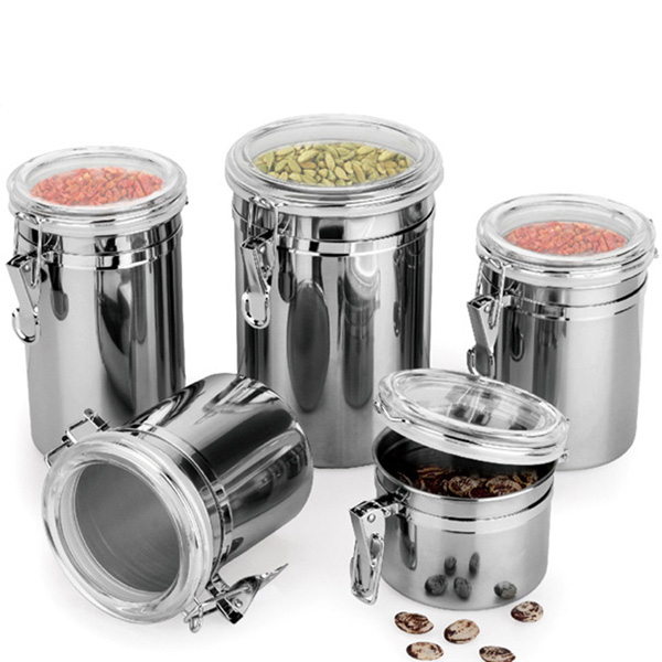 Durable Stainless Steel Canister Airtight Sealed Canister ...