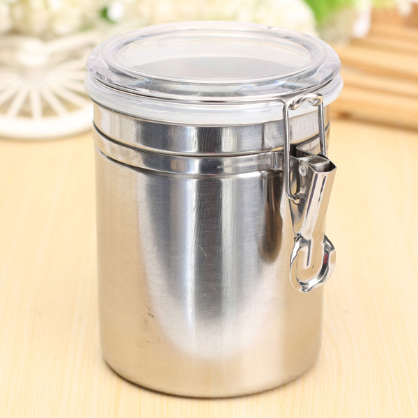 Airtight Stainless Steel Cabinet ~ Durable stainless steel canister airtight sealed